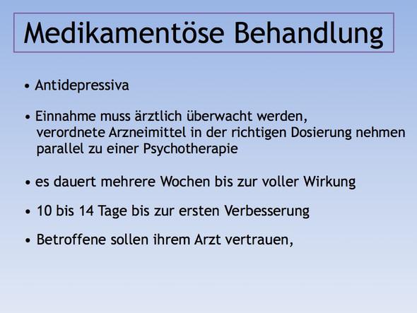 Bild 3 (medikamentöse Behandlung bei Depression) - (Schule, Bilder, Psychologie)