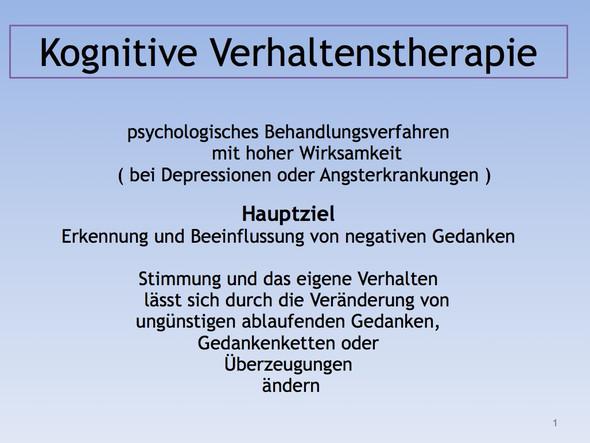 Kognitive verhaltenstherapie bei depressionen xxx video