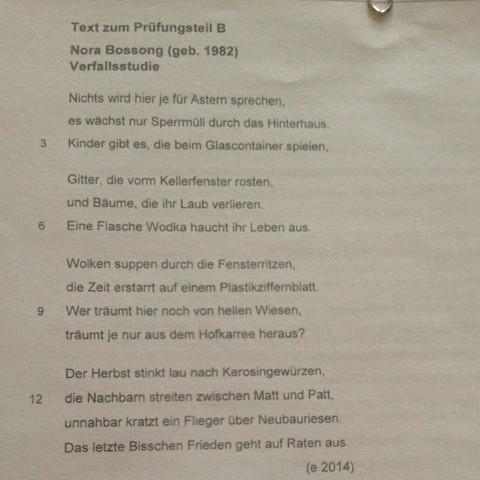 Welche Epoche Und Welche Form Deutsch Gedicht
