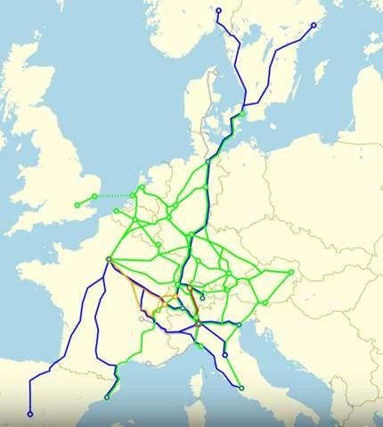 Welche Eurocity-Nacht Züge gab es?