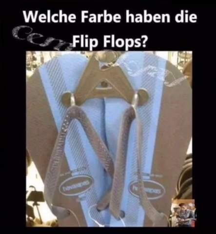 Welche Farbe haben die Flip Flops?