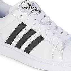 adidas schuhe Weiß mit schwarzen streifen