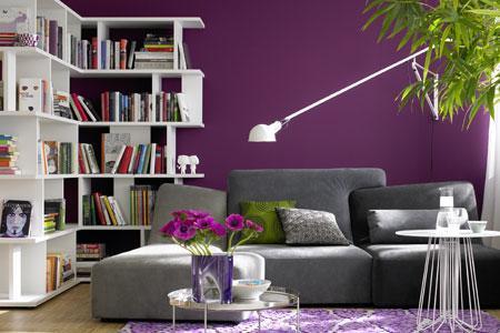 welche farbe passt zu lila wei zimmereinrichtung. Black Bedroom Furniture Sets. Home Design Ideas