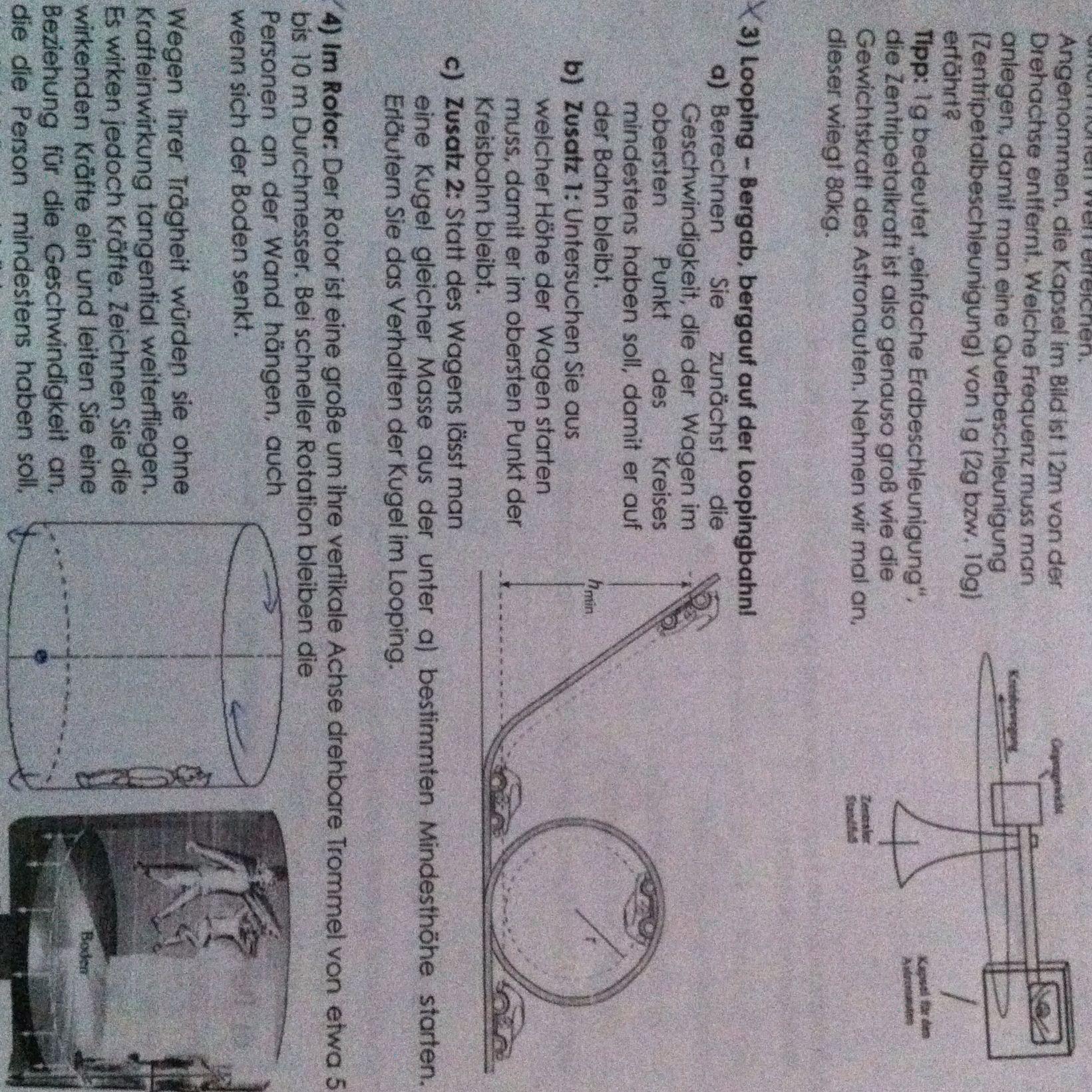 welche formel zum berechnen der geschwindigkeit im looping. Black Bedroom Furniture Sets. Home Design Ideas
