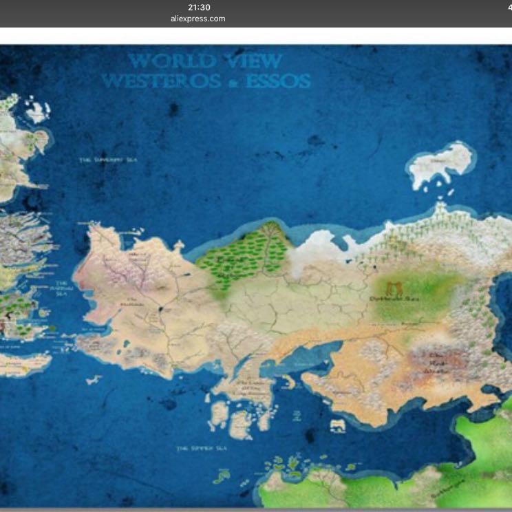 Game Of Thrones Weltkarte Deutsch