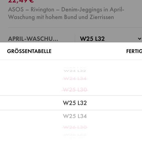 Es gibt noch W28 L32, L34 ... - (Größe, shoppen, danke)