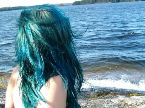 Haarfarbe - (Haarfarbe, directions, seapunk)