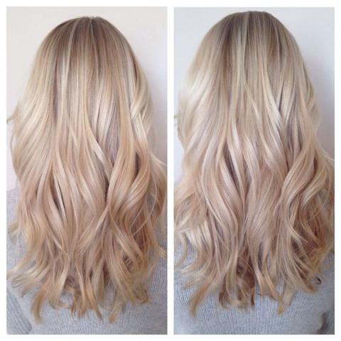 Haarfarbe und strahnchen