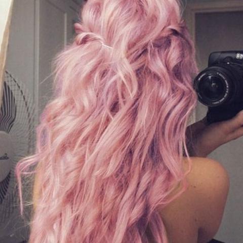 Haarfarbe rosa lila