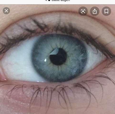 Braune augen graue mädchen blau haare Mädchen blonde