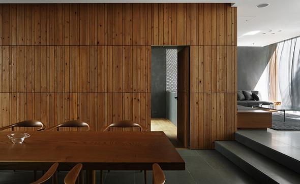 Küche und Esstisch Optical Glass House - (Holz, Material, schreinerei)