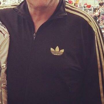 Goldene Adidas Jacke - (Jacke, adidas, Gold)