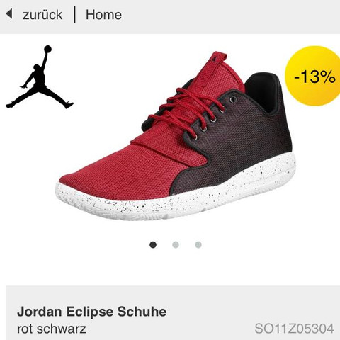 ein wenig anders in schwarz/rot  - (Kleidung, Schuhe, Jordans)