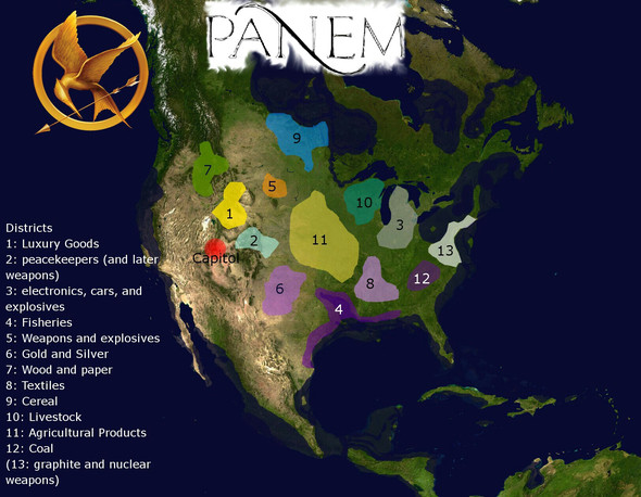 Map 1 - (Schule, Buch, Tribute von Panem)
