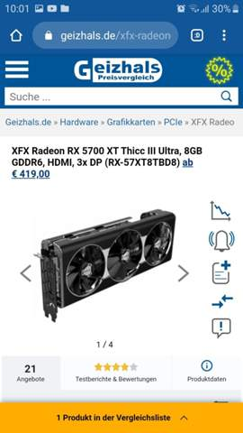 Welche Nvidia Karte ist genau so starkt wie die xfx Rx 5700 xt thicc iii Ultra 8 Gb?