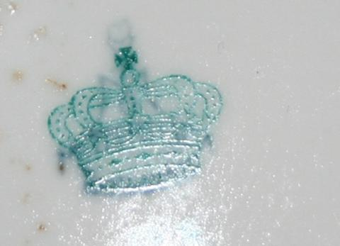 porzellanmarke n mit krone