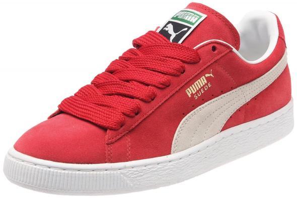 Puma Suede rot - (Schuhe, Sneaker, puma-schuhe)