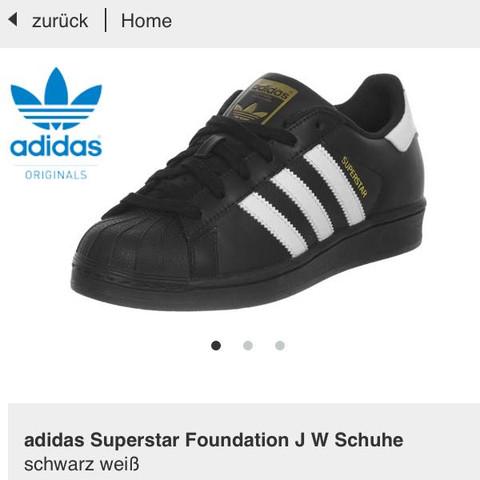 Schwarz weiss - (Schuhe, schwarz, adidas)