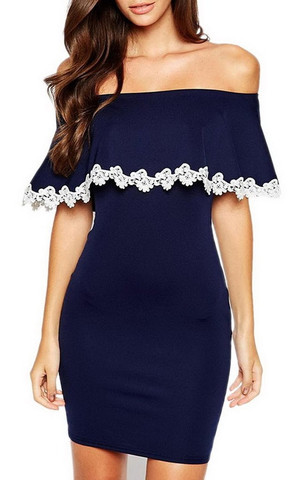 Welche Schuhe zu blauem Kleid mit weißer spitze? (Kleidung)