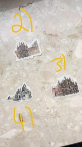 Welche Sehenswürdigkeiten sollen diese Sticker darstellen?