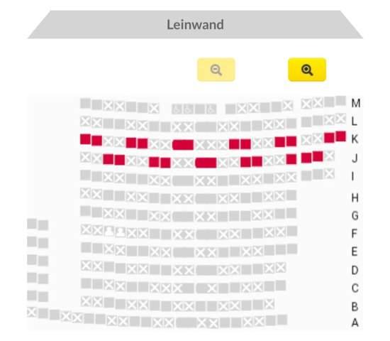 Welche Sitzplätze sind im Kino am besten?