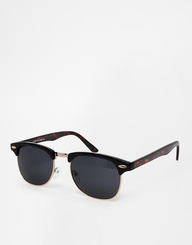 Clubmaster Sunglasses In Black And Tort - (Männer, Jugend, Style)