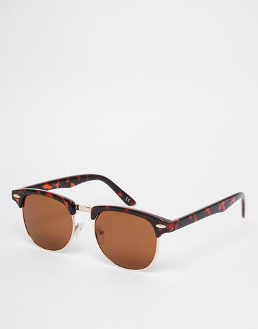 Tortoiseshell Clubmaster Sunglasses - (Männer, Jugend, Style)