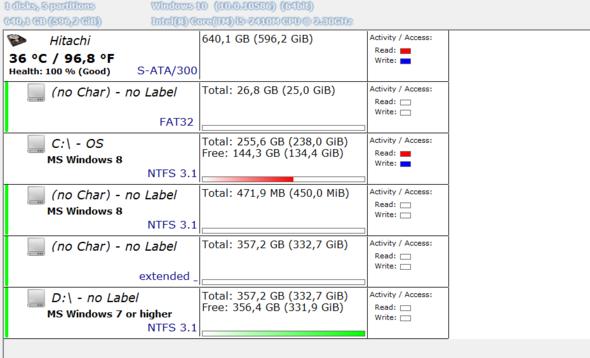 """Das ist die Auswertung des Programmes """"DriveInfo"""" - (Hardware, Festplatte, ssd)"""