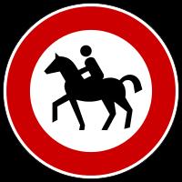 Verbotsschild - (Gesetz, Pferde, Reiten)