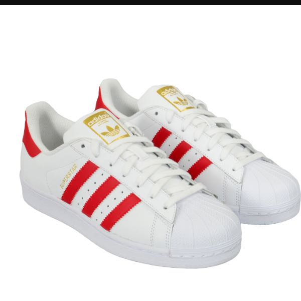 adidas superstars weiß rot