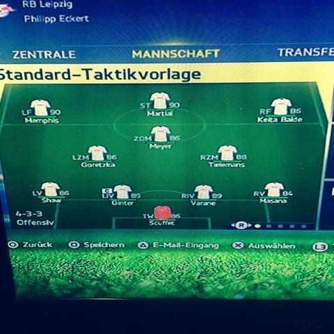 RB Leipzig  - (fifa15, Karrieremodus)