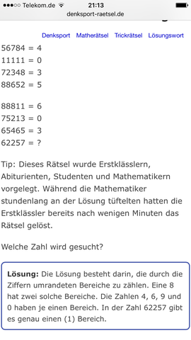 Rätsel - (Mathe, Spaß, Rätsel)