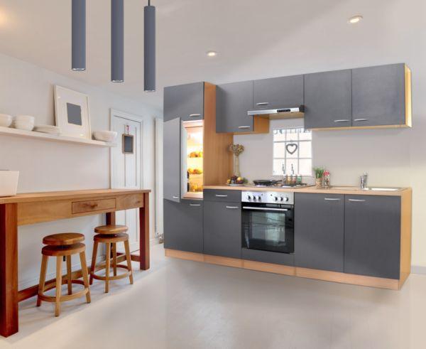 Welche Wandfarbe passt zu einer grauen Einbauküche? (Farbe, Küche ...