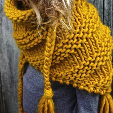 Welche Wolle und welches Strickmuster für dicken Schal? (stricken)