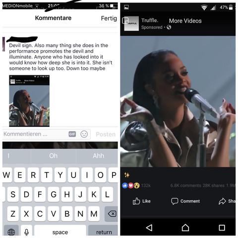 """""""Zeichen"""" und Kommentar  - (Religion, Teufel, Rihanna)"""
