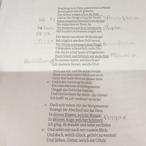 willkommen und abschied johann wolfgang goethe - (Gedicht, Ballade, Goethe)