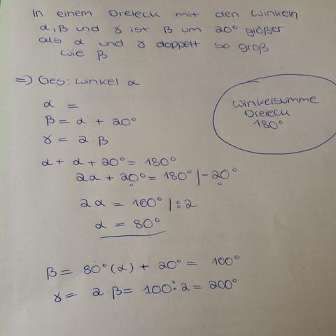 Hier das bild:)) - (Schule, Mathe, Gleichungen)