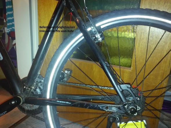 Fahrrad hinten - (Fahrrad, Rad, Gepäckträger)