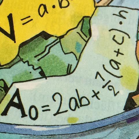 Der blaue Zettel ;) - (Schule, Buch, Mathe)
