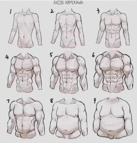 Welchen Körpertyp bei Männern?