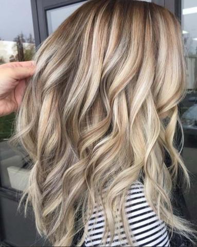 Strähnchen hellen aschblond mit Verschiedene Haarfarben