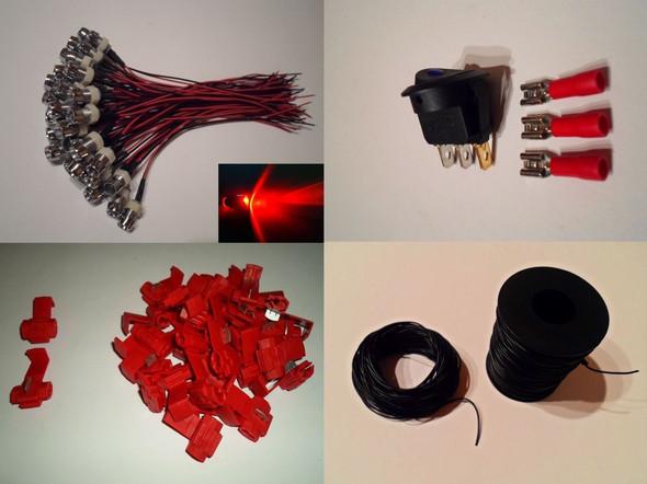 Der Komplette Lieferumfang - (Strom, LED, Trafo)