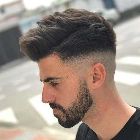 hinten manner haarschnitt mit ubergang - trends frisuren