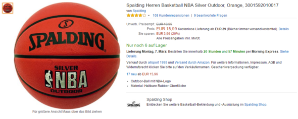 Spalding NBA - (Erfahrungen, Basketball, Ball)