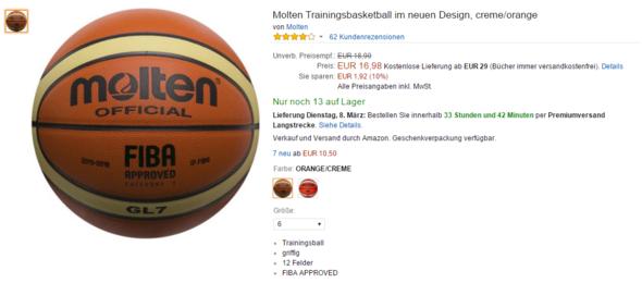 Molten - (Erfahrungen, Basketball, Ball)