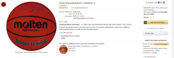 Molten School Trainer - (Erfahrungen, Basketball, Ball)