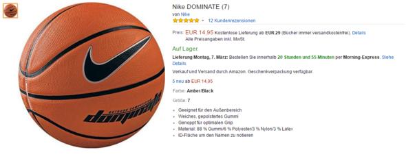 Nike Dominate - (Erfahrungen, Basketball, Ball)