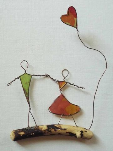 Figur: Liebespaar - (basteln, Handwerk, DIY)