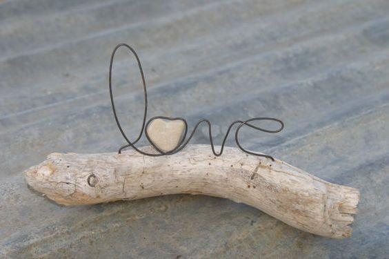 Drahtschrift: Love - (basteln, Handwerk, DIY)