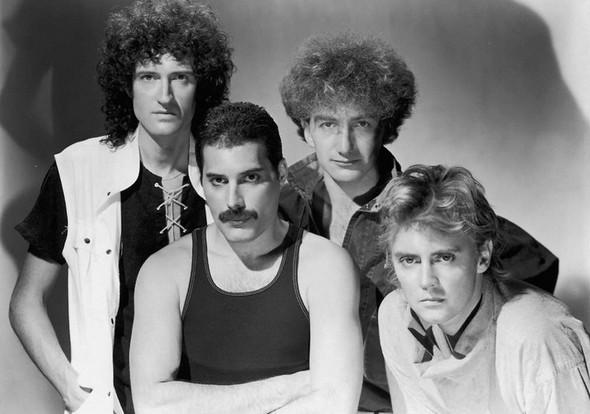Queen (Werbefoto für das 1984 erschienene Album the Works - (Musik, Band, Rock)